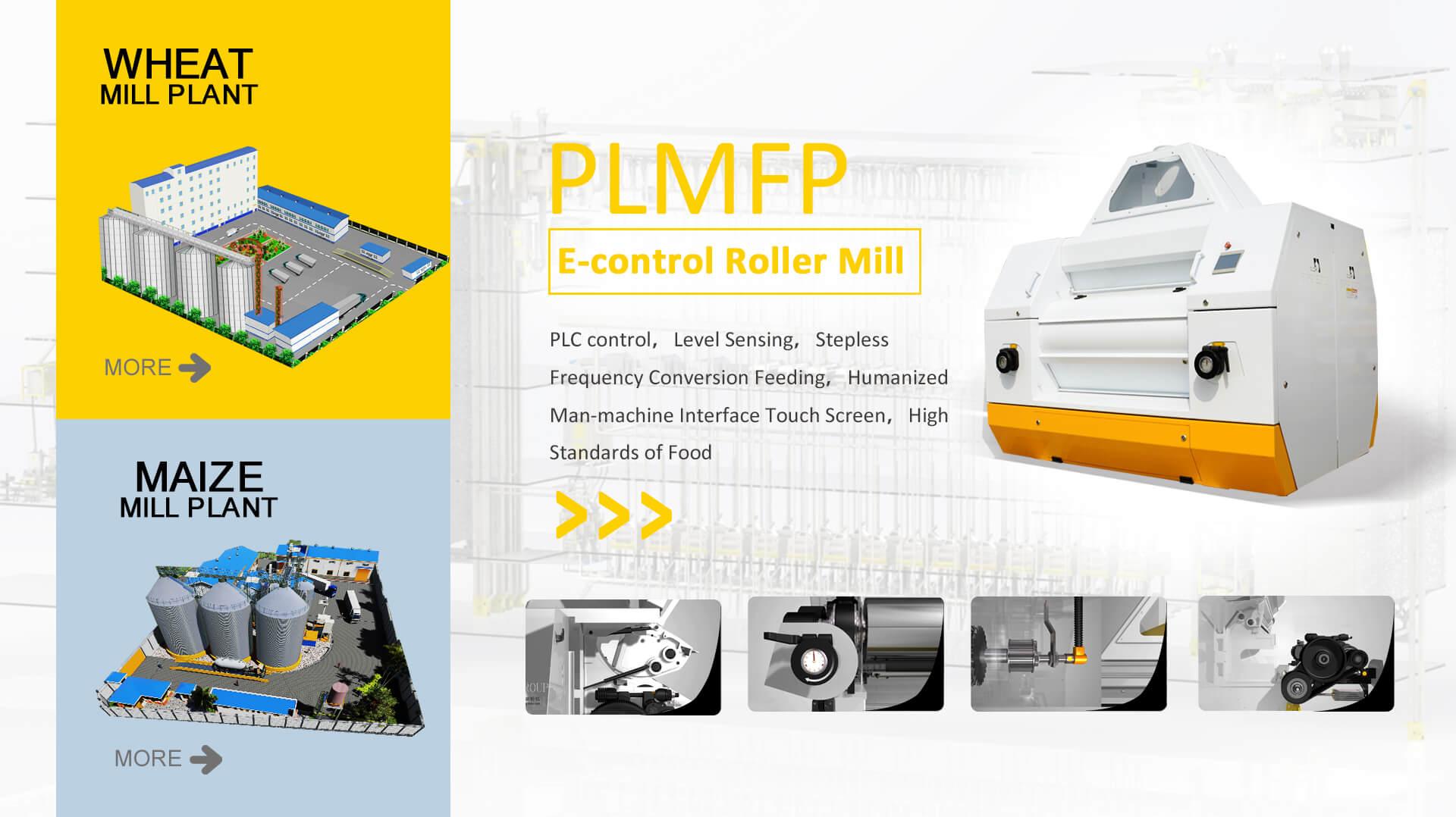 PLMFP Moinho de rolos E-control