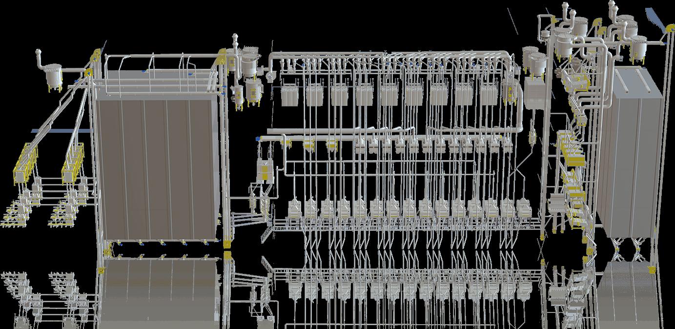 Conjunto completo de equipamentos de processamento de trigo