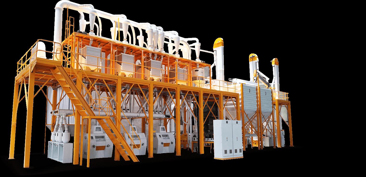 Conjunto completo de equipamentos de processamento de milho