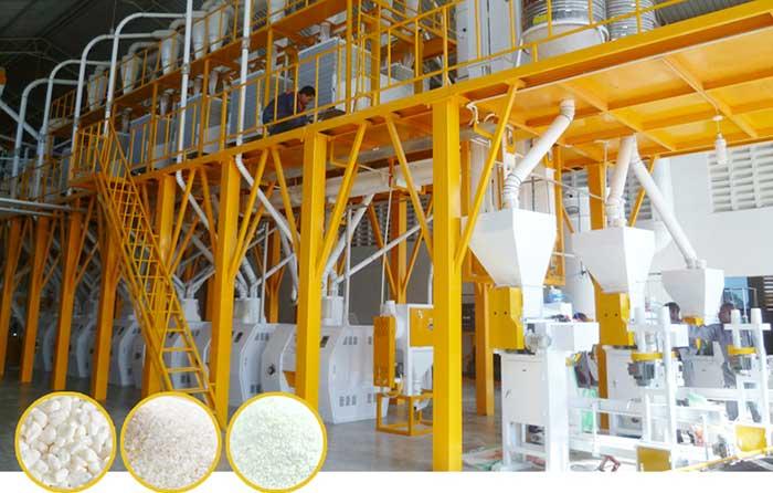 Conjunto completo de fábrica de moagem de farinha de milho