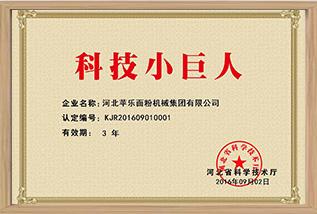 """Empresa Tecnológica """"Gigantinho"""" da Província de Hebei"""